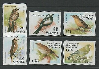 Thematic Stamps Animals - SAHARA 1997 BIRDS 6v mint