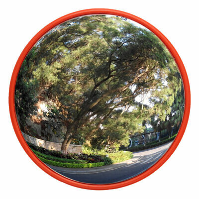 24 Inch Wide Angle Security Curved Convex Road Mirror Traffic Driveway Safety