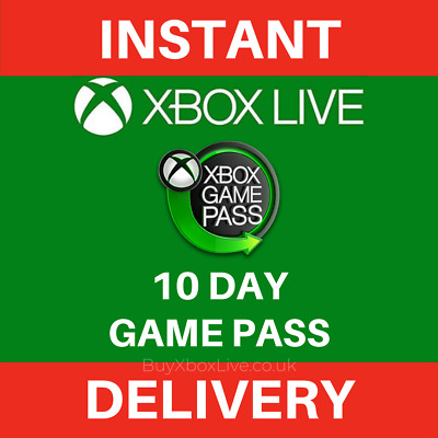 Xbox Game Pass 10 Day Membership Xbox Compatible - Instant Delivery
