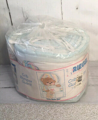 Vtg Reigel Teddy Beddy Bear Crib Bumper Guard New Deadstock Baby Blanket