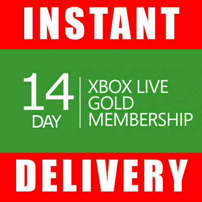 Xbox Live 14 Day Gold Trial Membership Code (2 Weeks) - Instant - Xbox One Only