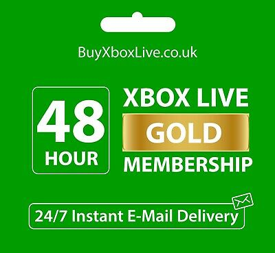 Xbox Live 48 Hour Gold Trial Membership Code (2 Days) - Instant Dispatch 24/7