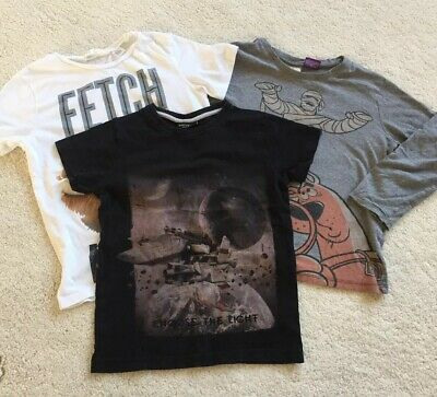 Boys Top T Shirt Bundle x 3 Next H&M Zara Age 6 Years