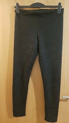 Black Snake Effect Leggings H&M Medium 12
