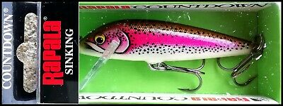 VERY RARE RAPALA COUNTDOWN CD 7 cm SPECIAL ART (Aristic Rainbow Trout) color