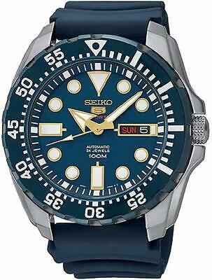 Seiko 5 Sports Automatic Blue Dial Blue Monster Mens Watch SRP605K2 RRP £279