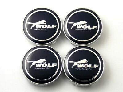 60mm 2.36in Tire Wheel Center Caps Hub Caps Clip Fit Ford MUSTANG Silver//Black