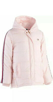 Tommy Hilfiger Little Girls Hooded Puffer Jacket. Uk Size 5-6 Years(Rrp£85)