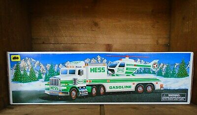 1995 HESS TRUCK with HELICOPTER NEW