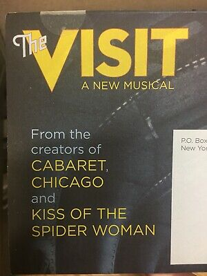 The Visit BROADWAY Mailer Flyer Musical New York Chita Rivera