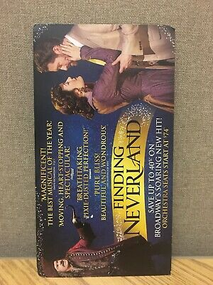 RARE Finding Neverland BROADWAY Mailer Flyer Musical New York Matthew Morrison