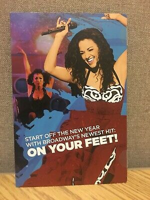 On Your Feet BROADWAY Mailer Flyer Musical New York Gloria Estefan Latin Music
