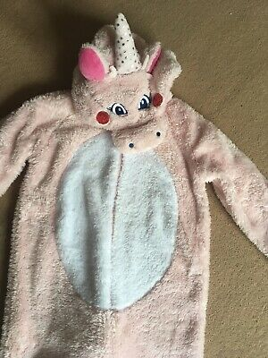 Sainsburys TU Pink Unicorn Fluffy Sparkly Fancy Dress 1Onesise 10-11 Years