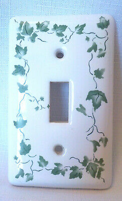 """Vintage Yield House Porcelain Wall Single Switch Plate Cover Ivy 4.5"""" x 2.75"""""""