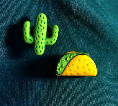 TACO Food Time Southwestern Style or CACTUS Croc Hole Accessories Shoe Charms