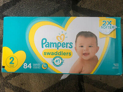 Diapers Size 2 (12-18 Lbs), 84 Count - Pampers Swaddlers Disposable Baby