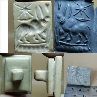Jasper Old Seal intaglio Cow & Spider Seal Wonderful stone stamp  # 129