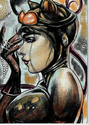 Catwoman - AP Sketch Card - Cosmotrama Studio 1/1 art by Emersom Sousa