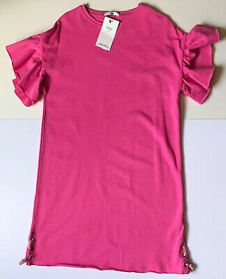 Marks And Spencer Girls Sweat-Dress Pink Age 12-13 Years Bnwt