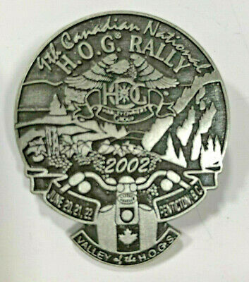 2002 Harley HOG Rally Pin - Penticton BC (Harley Davidson Owner's Group) 9th