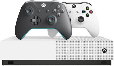 Microsoft Xbox One S 1TB All-Digital Edition Console with Gray/Blue Controller