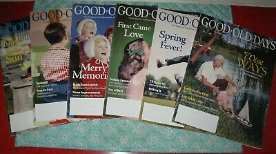 Lot of Good Old Days Magazines 1 Year July/Aug 2017 to May/June 2018
