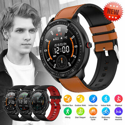 Waterproof Smart Sport Watch Fitness Tracker Blood Pressure Heart Rate Tempered