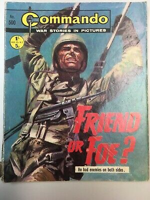 "Commando Comic # 500 from 1970  ""Friend or Foe?""   Very Good Condition"