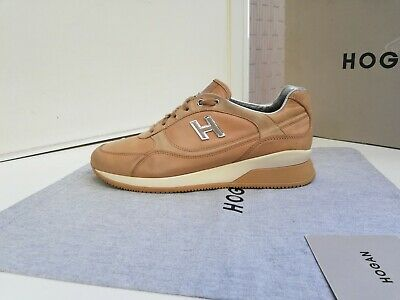 Scarpe Hogan N.40 ORIGINALI Donna New Active Shoes Women Size Madein Italy Beige