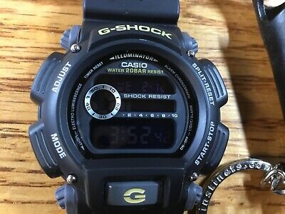 Casio G-Shock Digital Sports Military Style Watch DW9052-1C Black negative Face