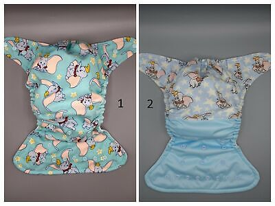Cloth diaper SassyCloth one size pocket diaper with flying elephant cotton print