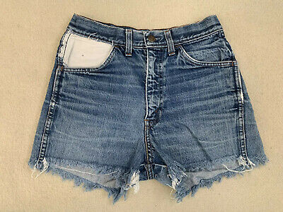 Vintage 60's Levi's Big E Blue Denim Cutoff Daisy Duke Shorts Sz 26