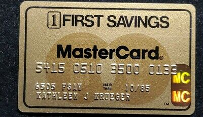 First Savings Gold MasterCard exp 1985♡Free Shipping♡cc631♡