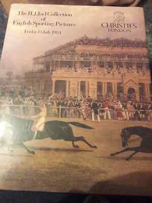 H.J.Joel Collection English Sporting Pictures Christie's catalogue 1984.Hardback