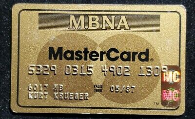 MBNA MasterCard Gold credit card exp 1987♡Free Shipping♡ cc713