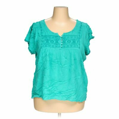 Live and Let Live Women's  Shirt size 2X,  turquoise,  rayon,  good condition