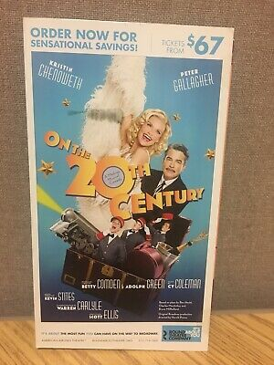 Kristen Chenoweth On The Twentieth Century BROADWAY Mailer Flyer Musical 20th