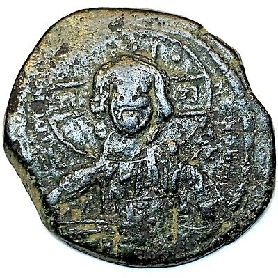 Ancient Byzantine Follis Coin; Jesus Christ - King Of Kings 1028 - 1034 A.d.