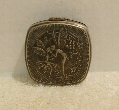 Djer Kiss Art Nouveau Fairy Compact with Mirror