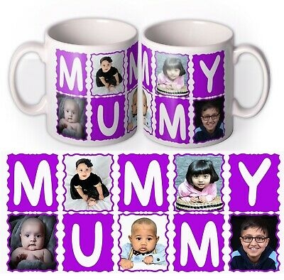 PHOTO MUMMY MUG Personalised Gift Best Mum Cup Birthday Present LOVE Mothers Day