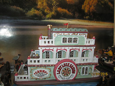 "TRAIN VILLAGE HOUSE CARNIVAL "" LUCKY GAMBLING CASINO BOAT""  + DEPT 56/LEMAX info"