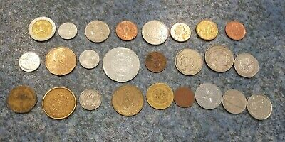The Americas lot of 30 different coins, all different countries