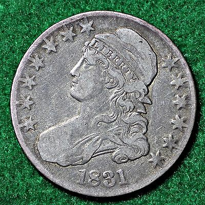 1831  CAPPED BUST HALF DOLLAR in VERY FINE (VF) CONDITION
