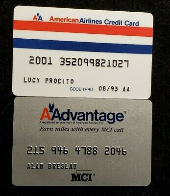 American Airlines credit card exp 1993♡Free Shipping♡cc952♡ phone card