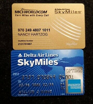 Delta Airlines SkyMiles♡Free Shipping♡cc953♡ phone card