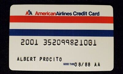 American Airlines credit card exp 1988♡Free Shipping♡cc954♡