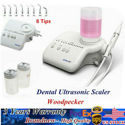 Dental Portable Ultrasonic Piezo Scaler HD-7H Handpiece Woodpecker Scaler 8 tips