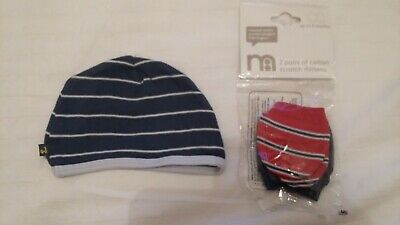 Mothercare 0-3 scatch mitts and hat Newborn Boys Layette Doll Reborn