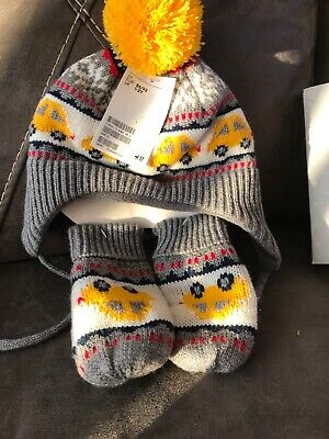 boys hat scarf and gloves Set 1-2 Years