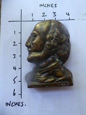 large vintage brass door knocker Will Shakespeare